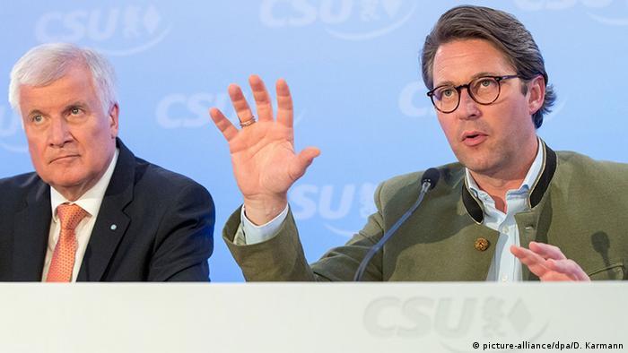 Deutschland Horst Seehofer und Andreas Scheuer in Schwarzenfeld