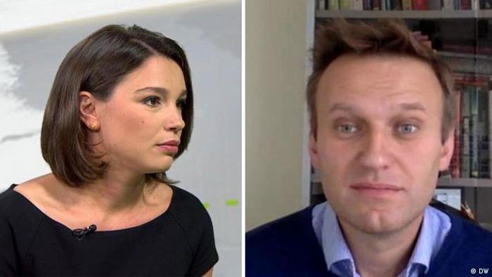 Жанна Немцова и Алексей Навальный