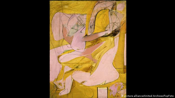 Yellow-pink painting by Willem de Kooning. Copyright: picture-alliance/United Archives/TopFoto
