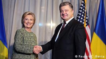 USA Treffen Hillary Clinton und Petro Poroschenko