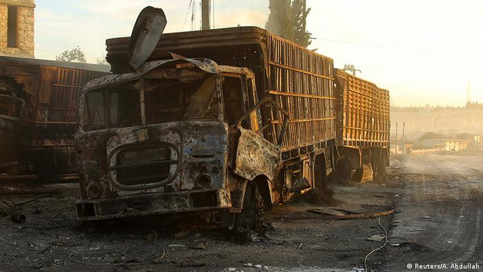 Syrien Angriff auf Hilfskonvoi
