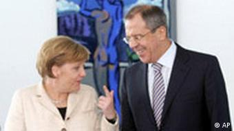 Sergej Lawrow bei Angela Merkel in Berlin