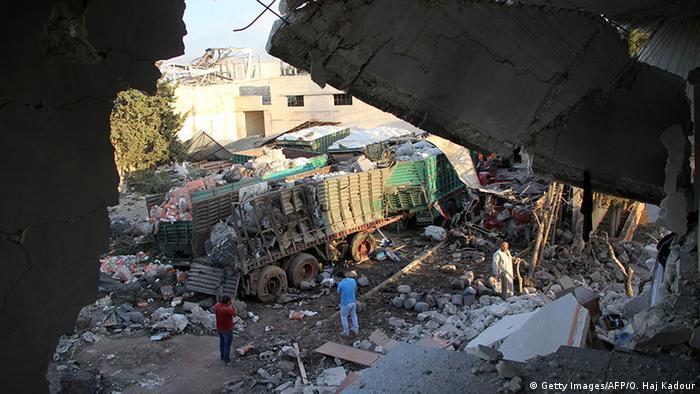 Rússia pede investigação - Ataque a um comboio de ajuda humanitária na Síria