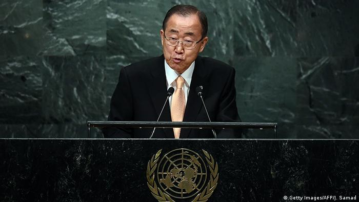 New York 71. UN-Generalversammlung Rede Ban Ki-moon (Getty Images/AFP/J. Samad)