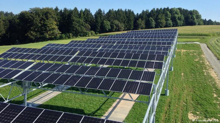 Deutschland Pilotanlage für Agrophotovoltaik am Bodensee