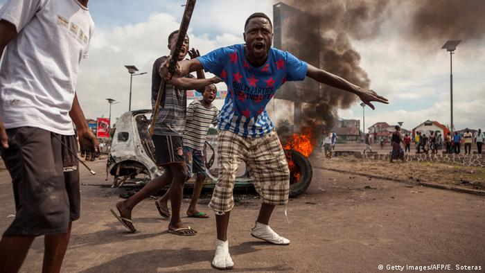Demokratische Republik Kongo - Ausschreitungen in Kinshasa (Getty Images/AFP/E. Soteras)