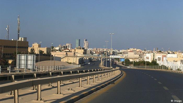 Libyen Leere Straße in Tripoli