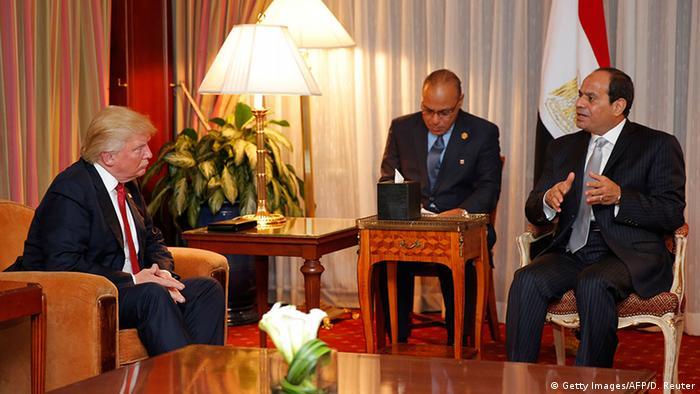 السيسي يلتقي بترامب على هامش مشاركته في الجمعية العامة للأمم المتحدة.