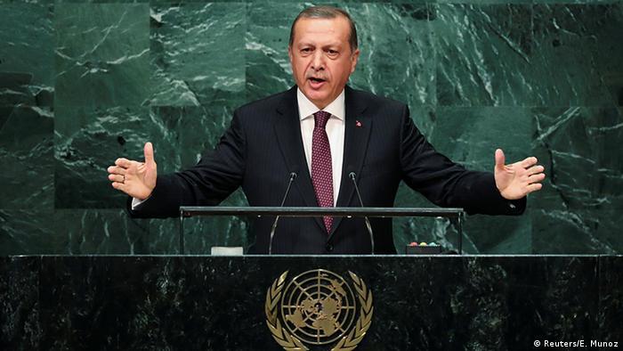 Türkei Präsident Tayyip Erdogan Rede bei der UN