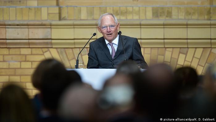 Wolfgang Schäuble als Laudator in Berlin (Foto: dpa)