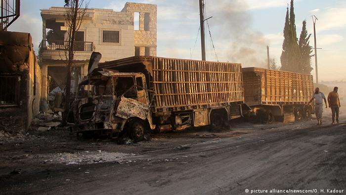 Syrien Angriff auf Hilfskonvoi (picture alliance/newscom/O. H. Kadour)