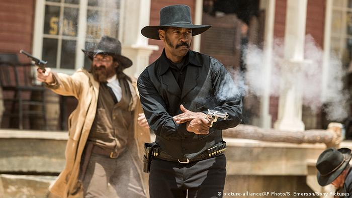 Scene from the 2016 movie The Magnificent Seven 