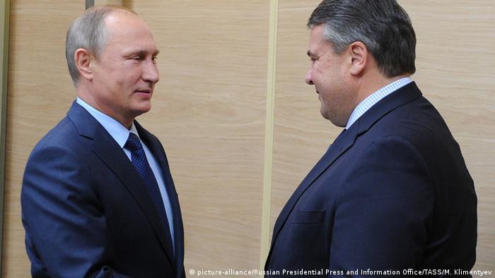 Russland Treffen Wladmir Putin & Sigmar Gabriel