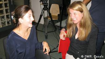 Íngrid Betancourt em entrevista à repórter da DW Astrid Prange