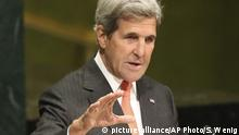 New York UN Klimavertrag Versammlung John Kerry