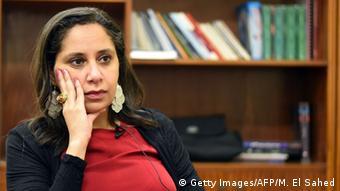 Ägypten Mozn Hassan von Nazra bei einem Interview in Kairo