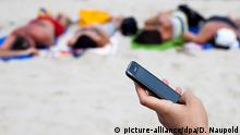 EU Roaming Telefonieren am Strand