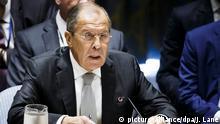 USA russicher Außenminister Sergei Lavrow beim UN-Generalversammlung