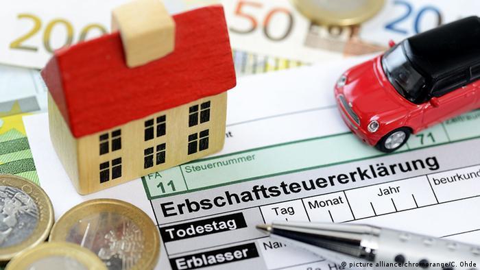 Symbolbild Erbschaftsteuer (picture alliance/chromorange/C. Ohde)