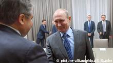 Bundeswirtschaftsminister Sigmar Gabriel in Moskau
