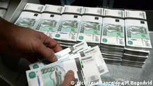 Banknoten Gelscheine Geld Russland