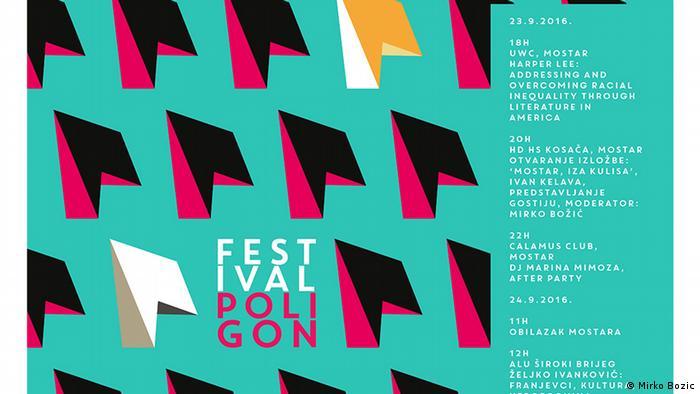 Bosnien und Herzegowina Literaturfestival Poligon Plakat