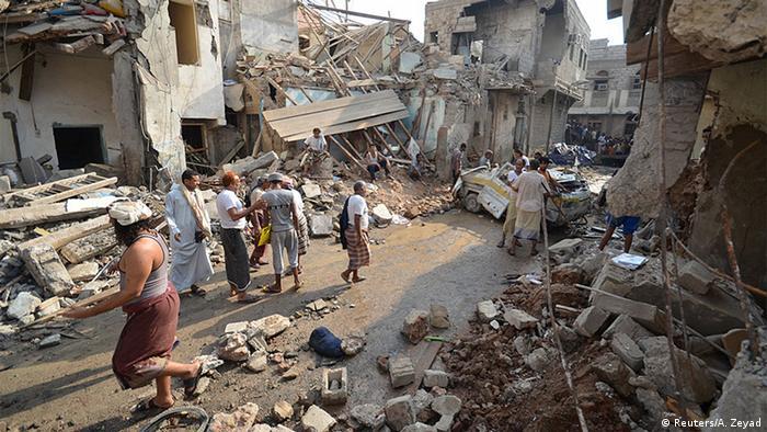 Jemen Luftangriff in Hodeida (Reuters/A. Zeyad)