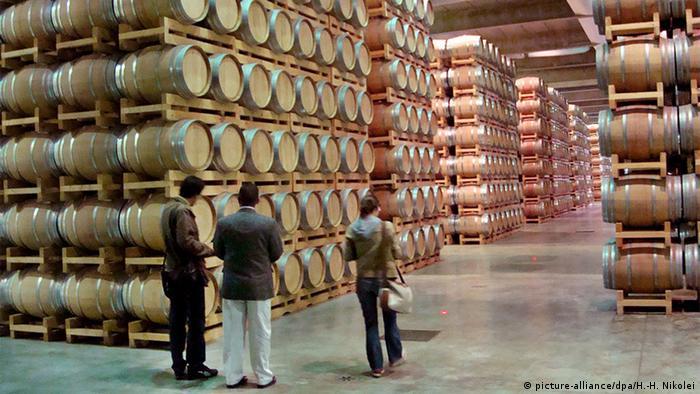 Frankreich Bordeaux Weinlager des Familienunternehmens Castel