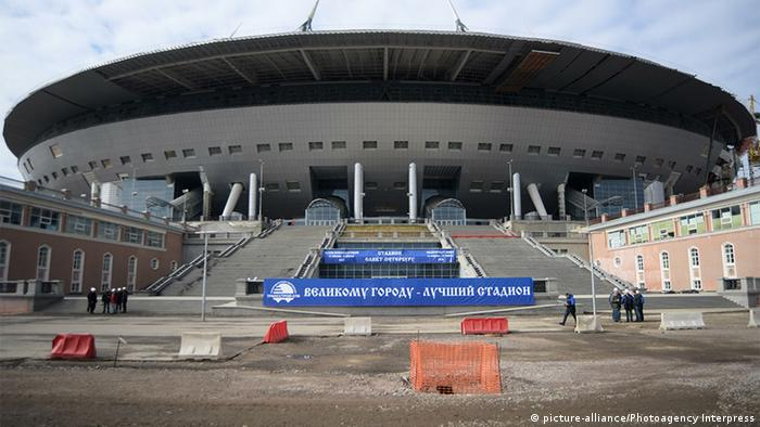 Вид на стадион Зенит-Арена, 2016 год