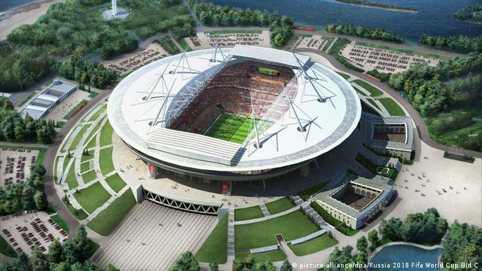 Стадион в Санкт-Петербурге, где пройдут матчи ЧМ-2018