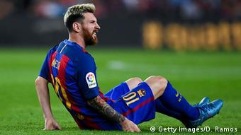 FC Barcelona vs Atletico Verletzung Messi