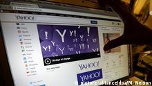 Yahoo Logo Schriftzug Computer