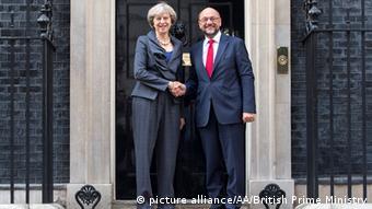 Großbritannien Treffen Theresa May und Martin Schulz