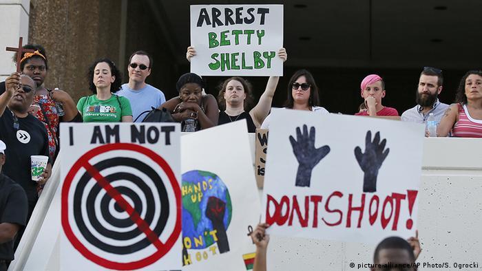 USA Protest für Gerechtigkeit in Tulsa Oklahoma