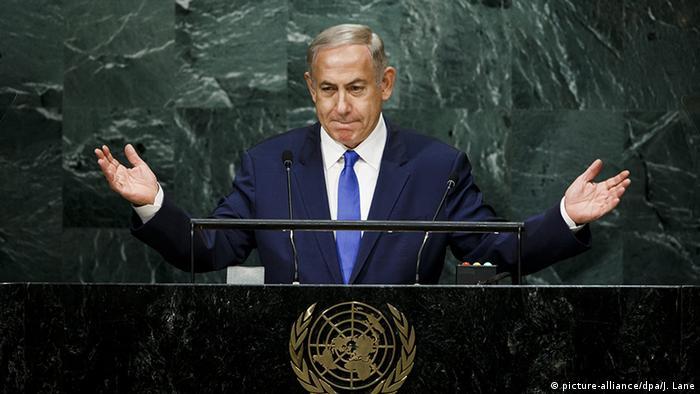 USA UN Generalversammlung New York Benjamin Netanjahu (picture-alliance/dpa/J. Lane)