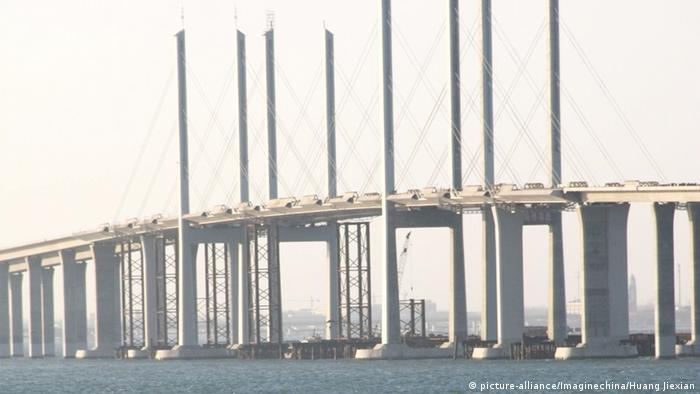 China Brücke Qingdao Gulf Bridge