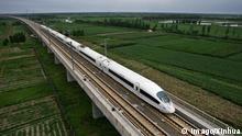 ARCHIV 2008 ++++ Bildnummer: 56056701 Datum: 01.08.2008 (110921) -- BEIJING, Sept. 21, 2011 (Xinhua) -- File photo taken on Aug. 1, 2008 shows a bullet train runs through the Yangcun Bridge of the Beijing-Tianjin Express Line in north China s Tianjin Municipality. PUBLICATIONxNOTxINxCHN Gesellschaft Bahn Verkehr x2x xst 2008 quer o0 Hochgeschwindigkeitszug 56056701 Date 01 08 2008 Copyright Imago XINHUA Beijing Sept 21 2011 XINHUA File Photo Taken ON Aug 1 2008 Shows a Bullet Train runs Through The Bridge of The Beijing Tianjin Shipping Line in North China S Tianjin Municipality PUBLICATIONxNOTxINxCHN Society Railway Traffic x2x 2008 horizontal o0 High-speed train BG Bildergalerie the longest bridges of the world. Copyright: imago/Xinhua
