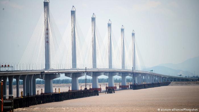 China Brücke Jiashao Bridge über Hangzhou Bay