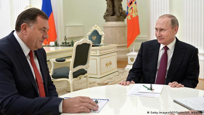 Milorad Dodik na sastanku sa Vladimirom Putinom