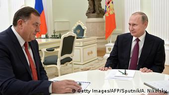 Russland Treffen Milorad Dodik und Wladimir Putin