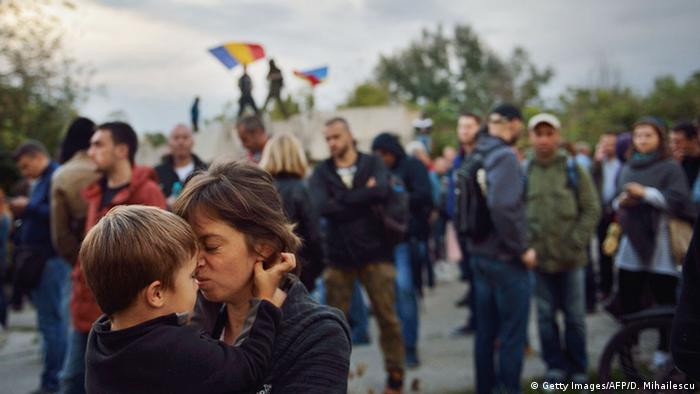 Rumänien Bukarest - Proteste gegen das Parlament