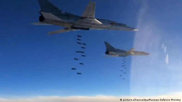 Российские ВВС в небе над Сирией