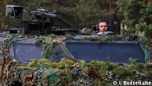 Historische Entscheidung - Bundeswehrsoldaten werden in anderen Land stationiert. Truppen aus verschiedenen NATO Ländern bei militärischer Übung in Litauen Rukla. Copyright: I. Budzeikaite