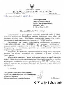 Dokument von Witaliy Schabunin