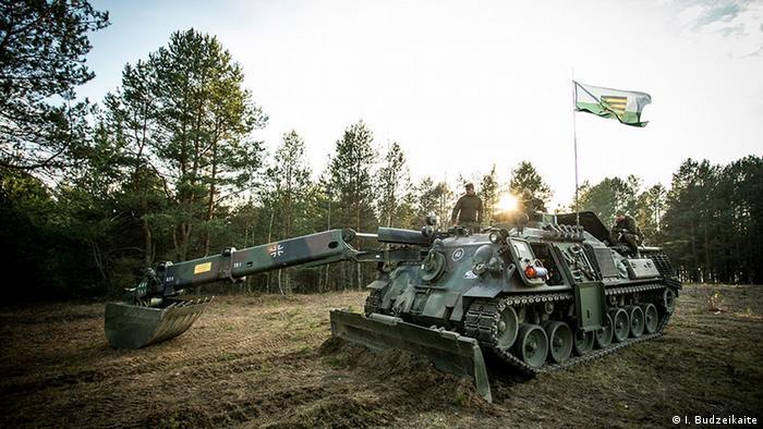 Litauen Rukla - Militärübungen von NATO Truppen (I. Budzeikaite)