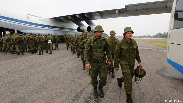 Российские солдаты на маневрах в Пакистане