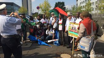 Biafra protests outside UN campus in Bonn, Germany