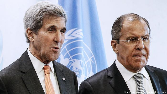 Sergei Lawrow John Kerry New York City (picture-alliance/dpa/A.Shcherbak)