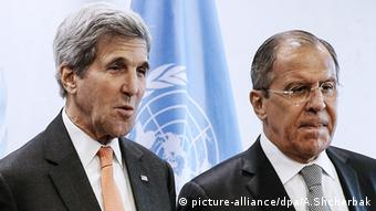 Sergei Lawrow John Kerry New York City (picture-alliance/dpa/A.Shcherbak)