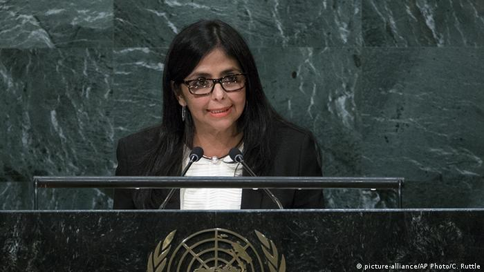 UN Generalversammlung Delcy Eloina Rodriguez Gomez (picture-alliance/AP Photo/C. Ruttle)